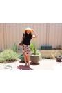 Tan-sportsgirl-hat-dark-brown-louis-vuitton-bag-teal-vincci-heels-turquois