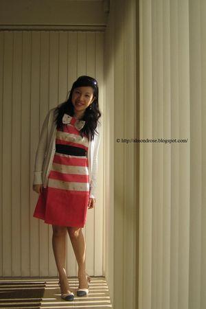 orange Alannah Hill dress - pink Kookai shoes - white Padini cardigan - black Sp