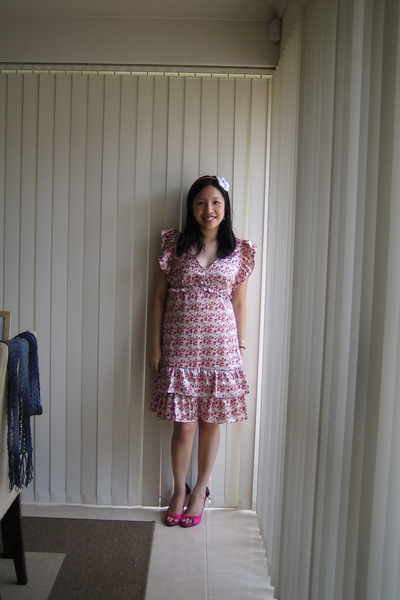 pink Kmart dress - pink Vincci shoes - pink Diva Hairband accessories