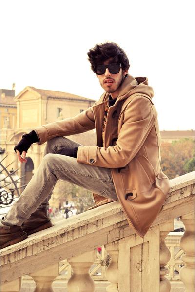 Primark coat - Zara boots - Zara jeans