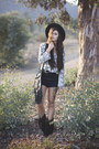 Black-fringe-naughty-monkey-boots-black-black-hat-white-snake-tobi-shirt