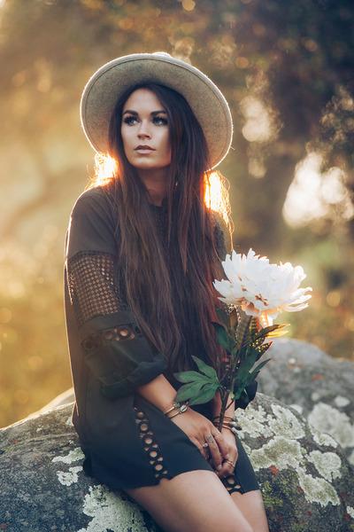 lbd Endless Rose dress - cowhide Vaalbara Designs bag