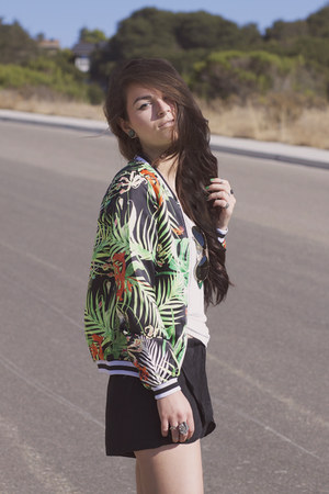 palm print Choies jacket
