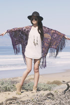 fringe Nasty Gal top - The Fledgling necklace