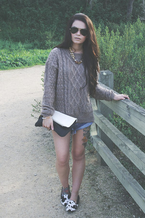 cable knit Sheinside sweater