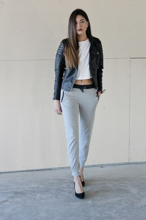 crop top Tobi top - sweatpants Zara pants