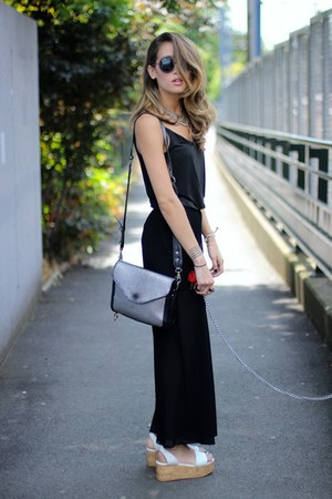 H&M top - nastygal bag - H&M pants