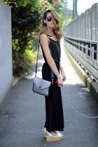 H&M top - nastygal bag - H&M pants