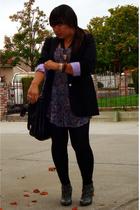 vintage blazer - Urban Outfitters blouse - American Apparel leggings - Zara shoe