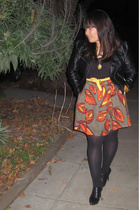H&M jacket - emma&sam top - Ambiance skirt - Target tights - Nine West shoes - G