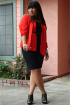 vintage blouse - f21 top - Nordstrom Rack skirt - Kelsi Dagger shoes - Haight St