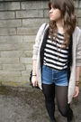 Miss-selfridge-shorts-topshop-top-jj-park-vest-topshop-cardigan