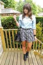 next shorts - Topshop shirt - black urban outiftters belt - black urban outiftte