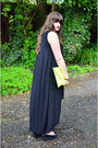 Black-cos-dress-black-flatform-vagabond-shoes-chartreuse-clutch-asoscom-bag
