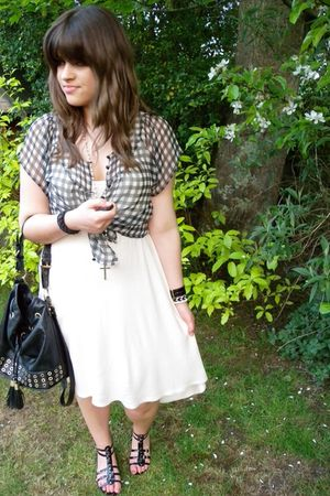 asos dress - Urban Outfitters top - black barratts shoes - black asos purse