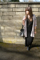black asos dress - beige Topshop shirt - black Urban Outfitters belt - black Urb