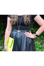 Black-crop-asoscom-top-chartreuse-clutch-asoscom-bag