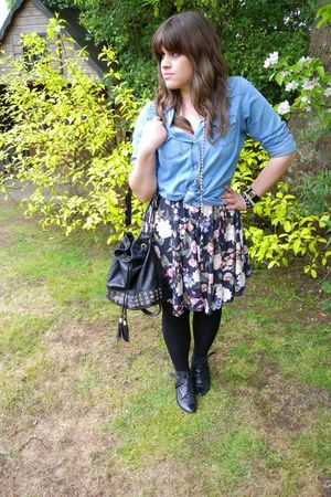 Topshop dress - Topshop shirt - asos purse