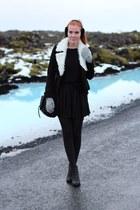 black faux fur VJ Style jacket