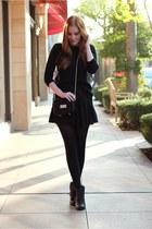 black ankle boots Bianco boots - black knit Zara sweater