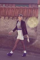 black H&M blazer - white Primark socks - heather gray H&M sweatshirt