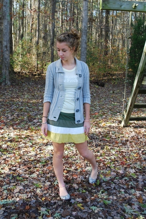 abercrombie and fitch shirt - Aeropostale sweater - American Eagle skirt - Steve