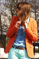 carrot orange allegro jacket - lime green New Yorker jeans