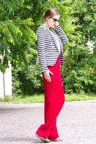 navy H&M jacket - ruby red SH pants
