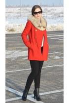 Mango coat - Cubus jeans - H&M heels - vintage accessories