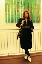 from 80s moms vintage coat - H&M bag - COS shorts - Vintage costume cardigan