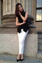 Chanel bag - Zara pants - Max Mara top