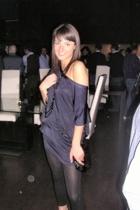 Zara dress - Calzedonia leggings - accessories -  shoes