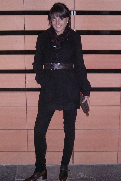 Tally Weijl coat - jeans - belt - Louis Vuitton accessories - alberto fermani sh