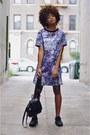 Violet-mineral-print-girls-on-film-dress-black-air-max-thea-nike-sneakers
