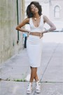 White-sleeveless-missguided-blazer-white-missguided-heels
