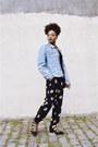 Black-topshop-shoes-blue-denim-vintage-calvin-klein-jacket