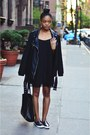 Black-sheinside-dress-black-forever-21-jacket