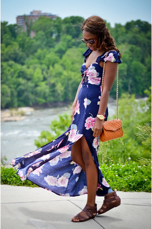 navy maxi dress Urban Outfitters dress