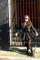 black H&M skirt - black Cockpit NYC jacket - Forever 21 accessories - le chateau