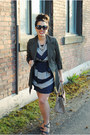Heather-gray-unknown-dress-army-green-plum-jacket-light-brown-kate-spade-bag