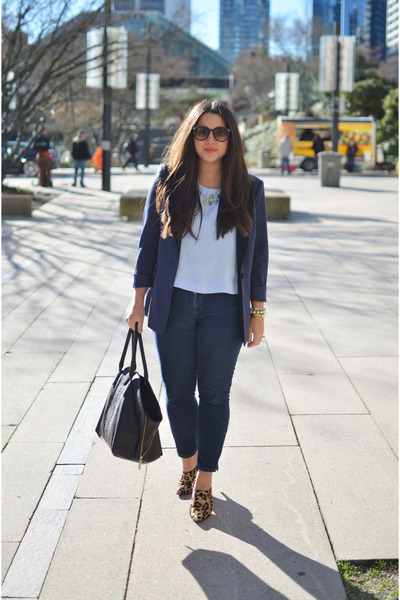 light blue Topshop blouse - navy 31 Phillip Lim for Target blazer