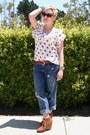 Gap-jeans-target-belt-anthropologie-blouse-steve-madden-wedges