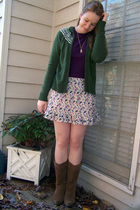 SO sunglasses - Forever 21 necklace - Forever 21 skirt - Roxy boots