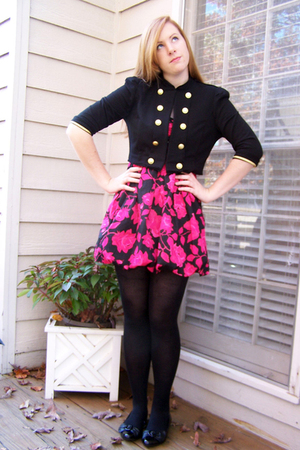 Forever 21 jacket - Forever 21 dress - simply vera wang tights - Report shoes