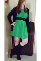 Delicia dress - Forever 21 belt - Mossimo sweater - Candies boots - Forever 21 n