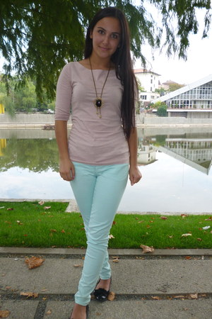 H&M blouse - necklace - H&M pants - flats
