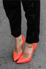 Red-h-m-bag-carrot-orange-blades-casadei-heels-black-alexandra-avram-pants