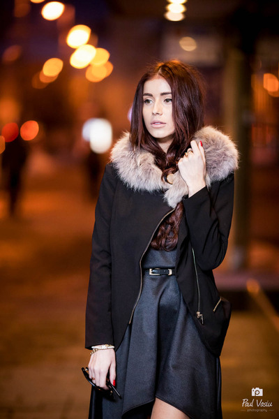 black edgy black Diva Charms dress - black side zipped Choies blazer