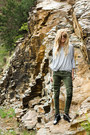 Olive-green-army-h-m-jeans-silver-basic-zara-blouse