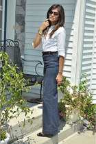 navy H&M jeans - white Michael Kors shirt